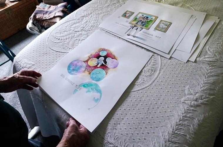 Coronavirus, US, Covid-19 pandemic, Pandemic daily doodles, 88-year-old pandemic doodles, good news, Trending news, Indian Express news