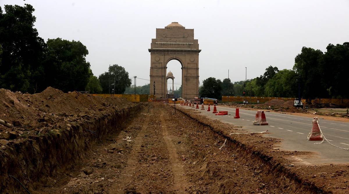 Central Vista Project, redevelopment projects, india gate, Rajpath, Central Vista Project cost, Central Vista Project news, indian express