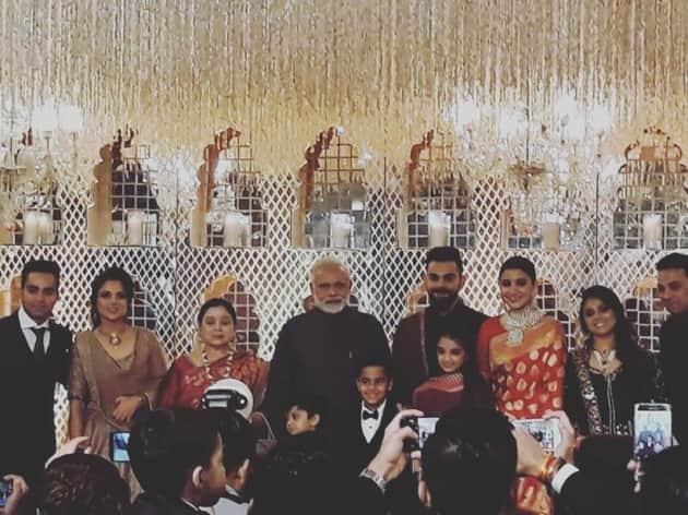 Anushka Sharma and Virat Kohli reception, family, pm modi 2
