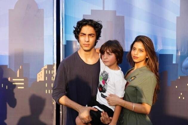Aryan Khan, Suhana and Abram