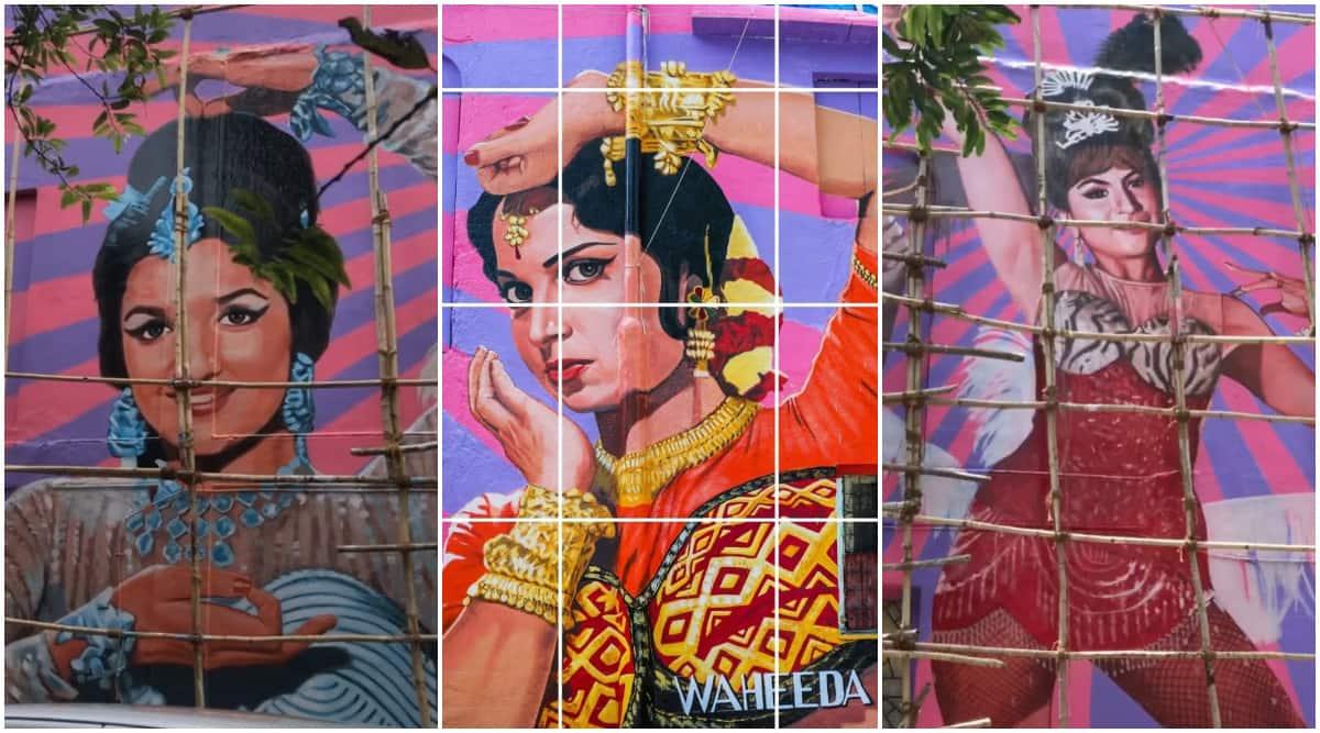 Asha Parikh- Waheeda Rehman- Helen- BAP mural in Bandra