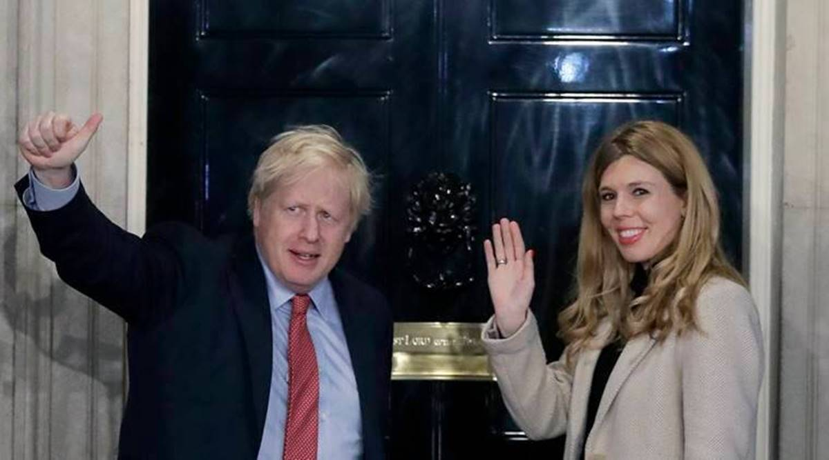 Boris Johnson marries, UK PM Boris Johnson gets married, Johnson marries fiancee Carrie Symonds, Westminster Cathedral, UK marriage covid protocols, World news, Indian express