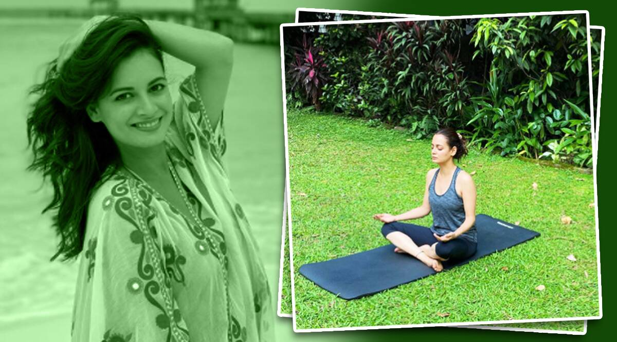 meditation benefits, dia mirza news, dia mirza meditation, fitness goals, dia mirza meditation, indianexpress.com, indianexpress, dia mirza daily routine, meditation news, dia mirza exercise, mental health exercises to calm down, how to beat anxiety, deep breathing, meditation effects,