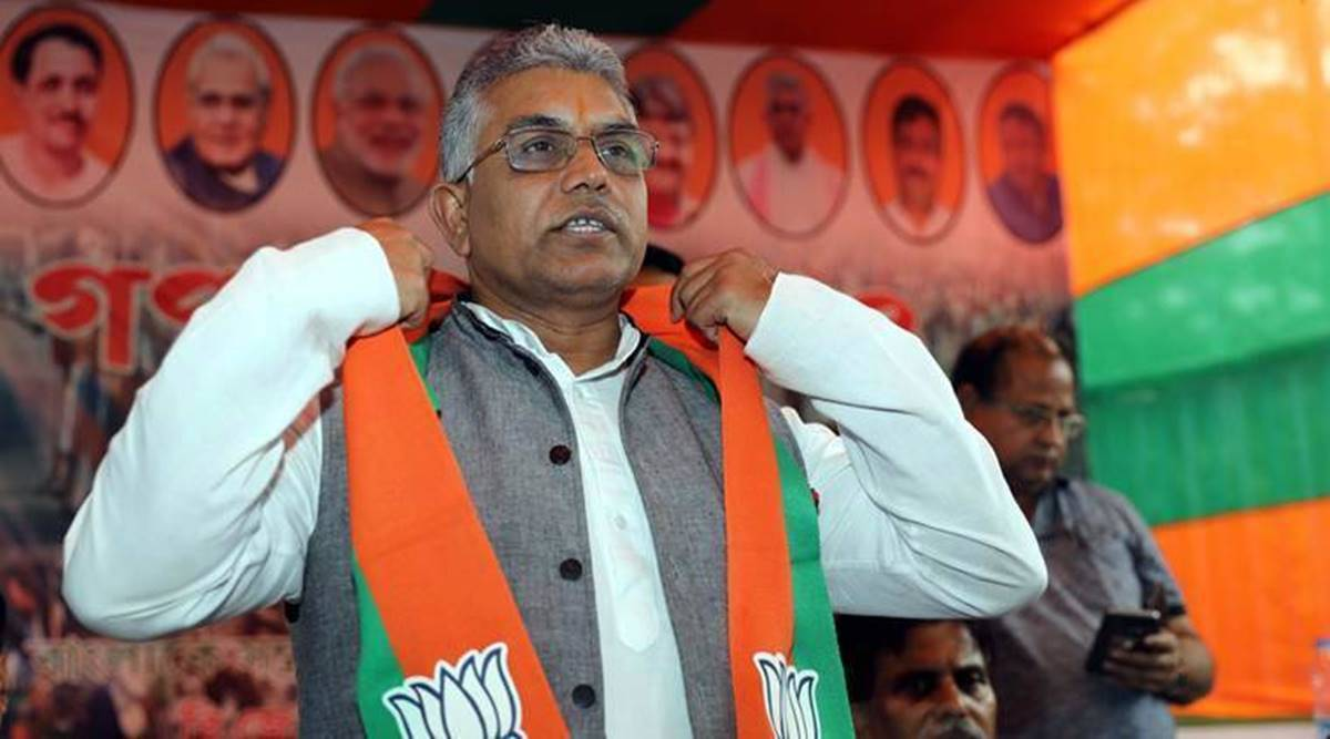 Bengal violence, Dilip Ghosh, 37 BJP leaders killed in Bengal violence, Bengal violence deaths, JP Nadda, Bengal assembly elections, Bengal news, Indian express