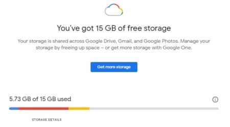 Google free storage, Google storage, Google One,