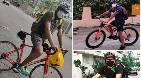 From food, meds to oxygen, Hyderabad cyclists are running errands for the city's elderly