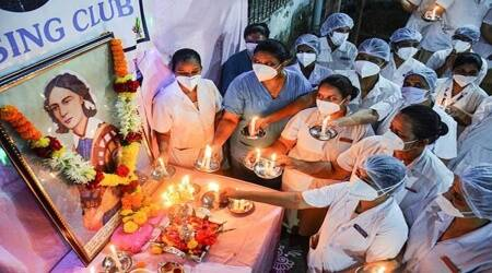 International Nurses Day, nurses in India, nurses around the world, International Nurses Day gallery, International Nurses Day pictures, healthcare workers, frontline workers, Covid-19, Coronavirus, Florence Nightingale, International Nurses Day May 12, indian express news