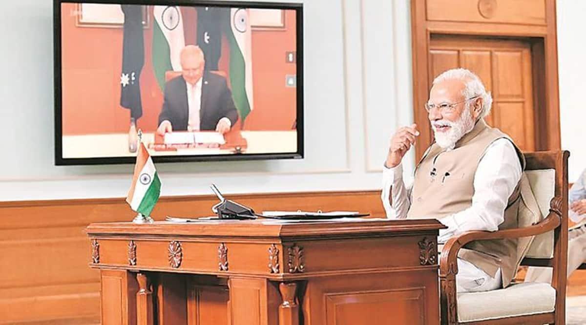 Narendra Modi, Scott Morrison