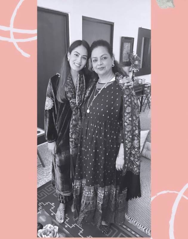 mira rajput on mother's day