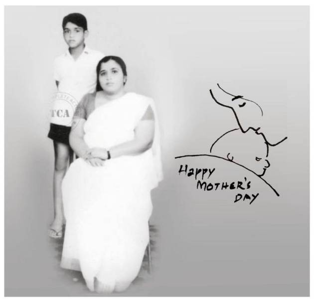 mohanlal on mother's day
