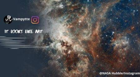 NASA, NASA Hubble, 30 Doradus image, NASA 30 Doradus image, NASA mother's day post, Instagram, Trending news, Indian Express news.