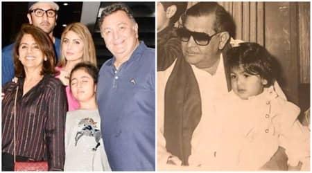 Neetu Kapoor shares throwback photos as her daughter Riddhima and granddaughter Samara Sahni pose in their 'grandfather's loving lap', see photos 1200