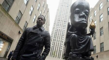 Sanford Biggers, Sanford Biggers Oracle statue, Sanford Biggers Rockefeller Center, Rockefeller Center Oracle statue