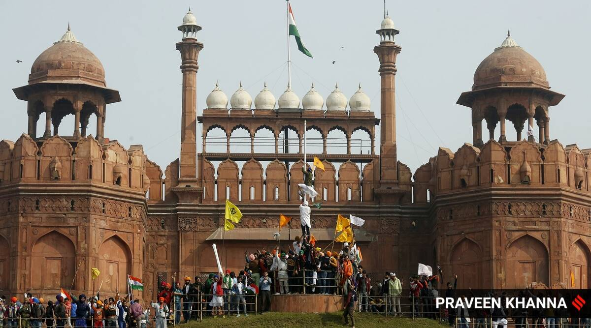 Red Fort, Republic Day violence