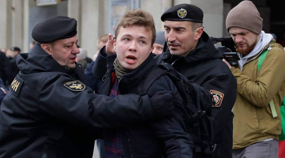 Trudeau condemns Belarus' arrest of journalist, hints at further sanctions