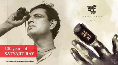 satyajit ray, 100 years of satyajit ray, satyajit ray centenary, artist ray 100 years tribute, satyajit ray 100th birthday artworks, aniket mitra, viral news, indian express