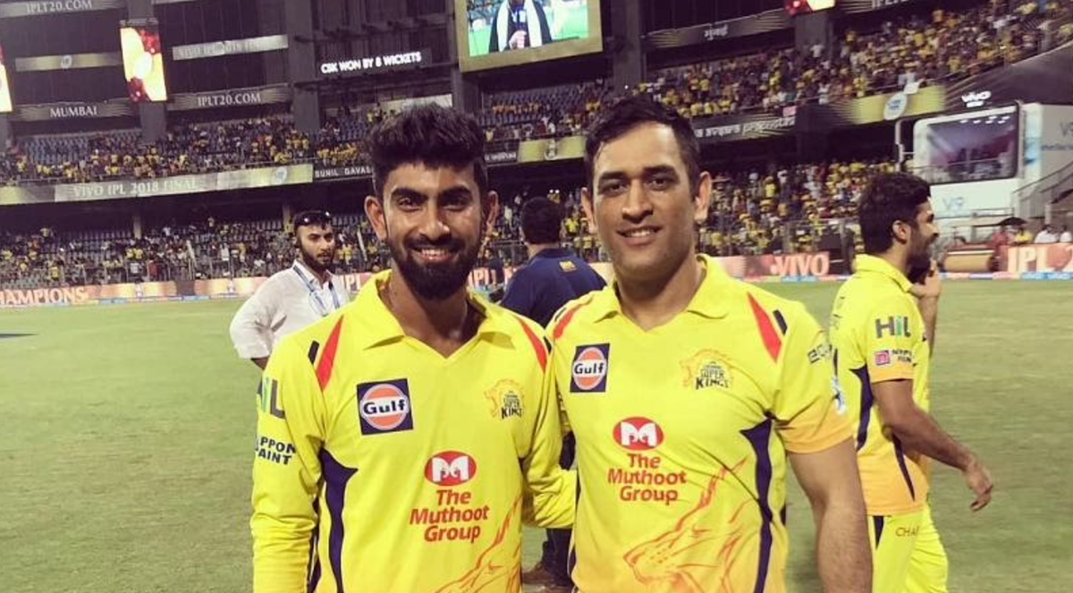 MS Dhoni with CSK's other wicketkeeper-batsman N Jagadeesan (File Photo/CSK)