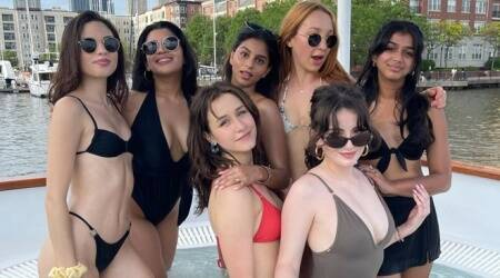 Suhana Khan poses with her girl gang in a pool, See her 13 latest photos