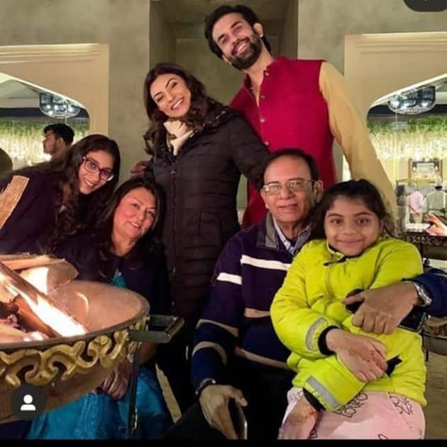 Sushmita Sen, daughters, father, brother Rajeev Sen