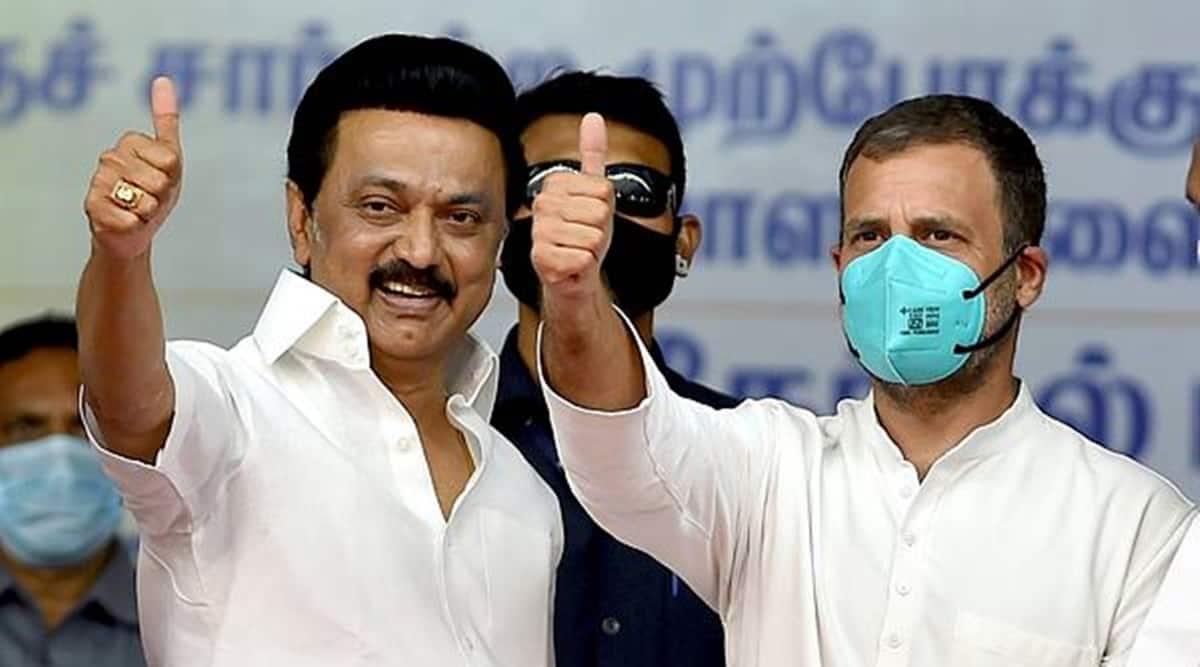 Tamil nadu election results, Tamil Nadu Congress tally, tamil nandu DMK tally, KS Alagiri, Tamil nadu news, indian express
