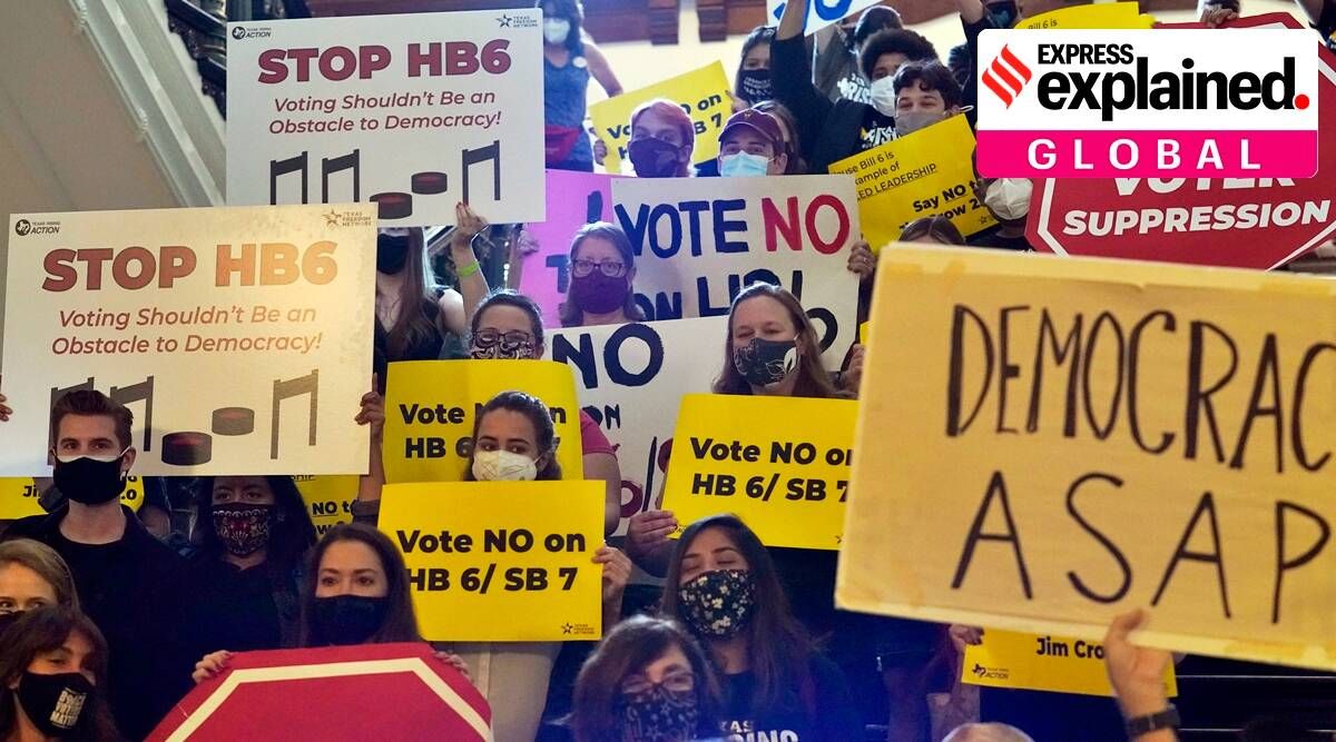 Texas voting bill, what is the texas voting bill, texas voting bill explained, SB 7 Texas protest, express explained