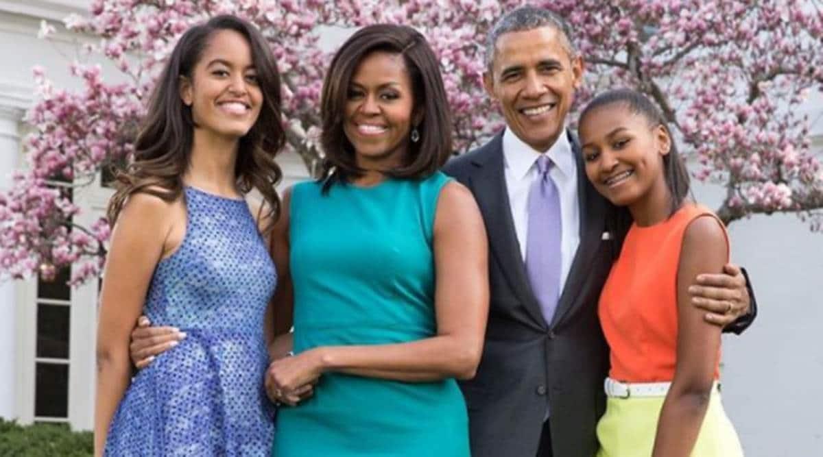 Barack Obama, Barack Obama family, Barack Obama daughters, Barack Obama White House days, Barack Obama and Michelle Obama, White House, Sasha Obama, Malia Obama, indian express news