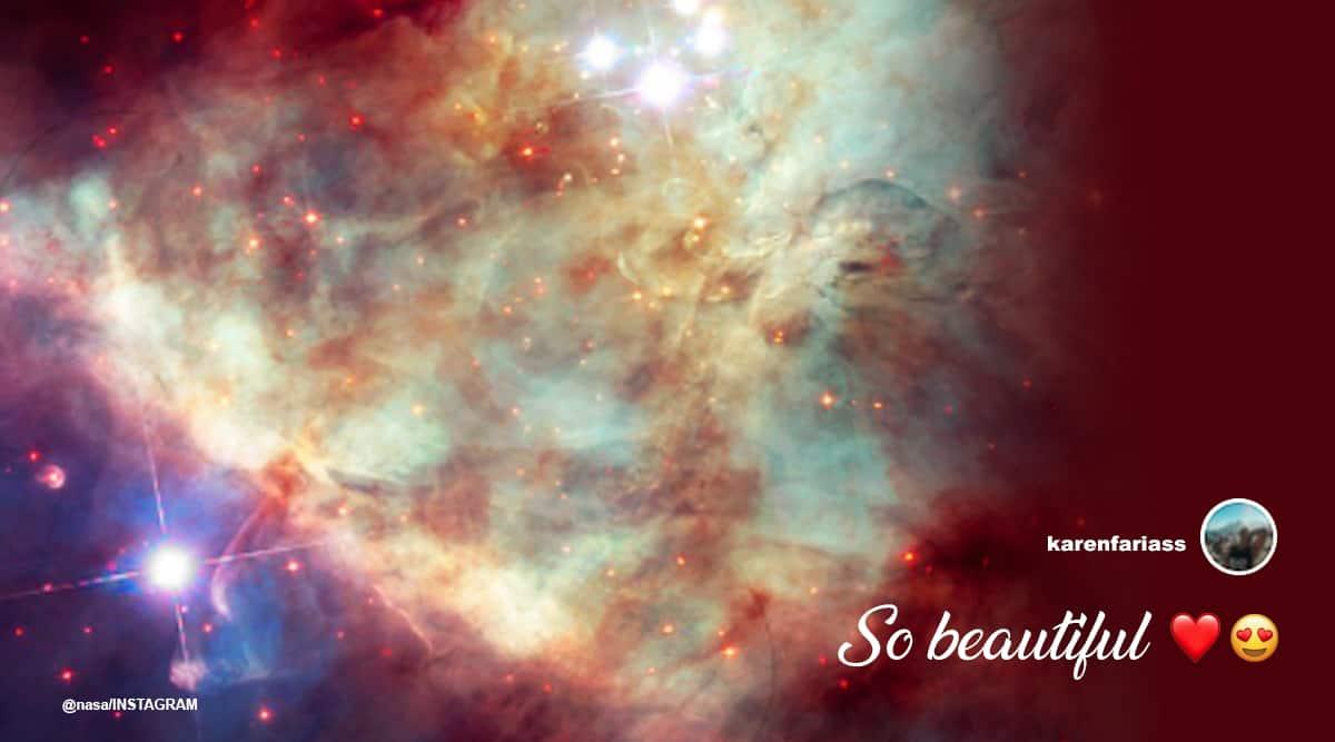 NASA, Instagram, Orion Nebula, Orion Nebula picture, Orion Nebula NASA, Trending news, Indian Express news