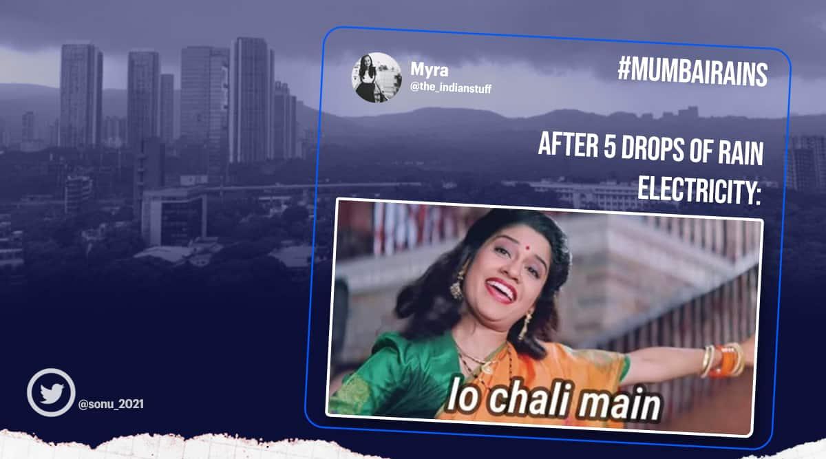 Mumbai, Mumbai rains, Mumbai rain memes, Twitter reactions, Mumbai weather now, Mumbai weather updates, Mumbai rain updates, Mumbai rain Twitter, MumbaiRain, Trending news, Indian Express news