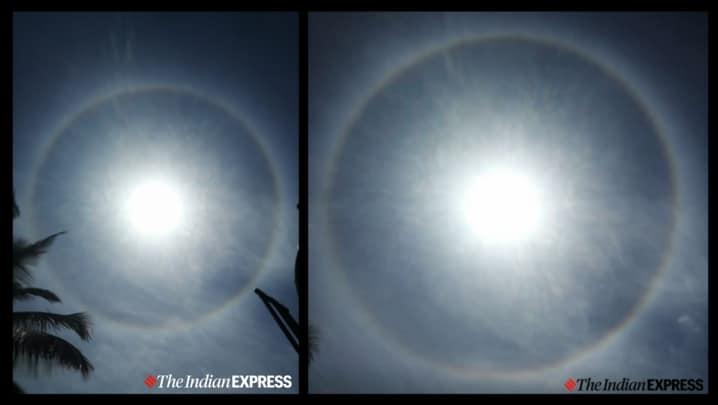 22 degree circular halo sun, Bengaluru