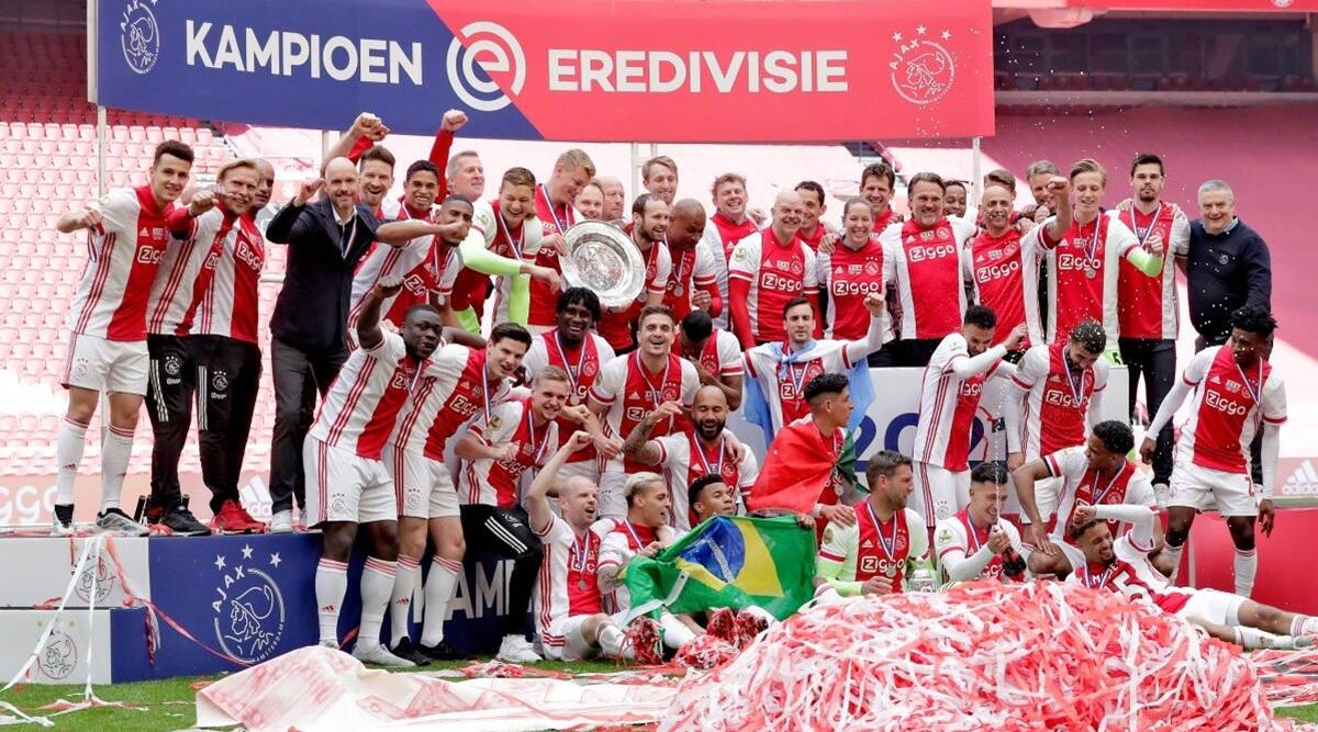 Ajax claim record-extending Eredivisie title after thumping win over Emmen  | Sports News,The Indian Express