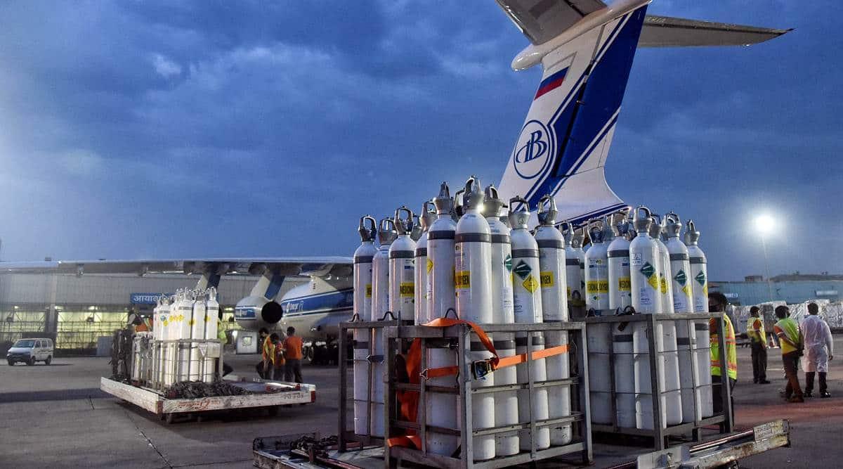 In last week, Delhi Airport got 262 ventilators, 1,434 cylinders from abroad