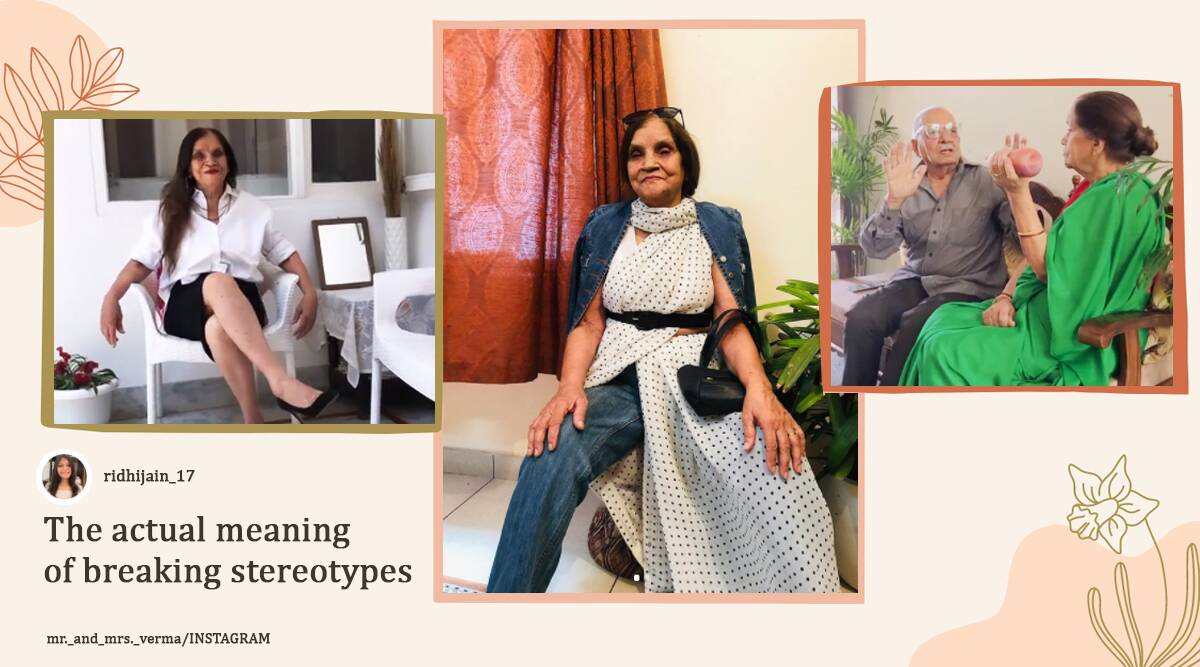 76-Year-Old Grandmom fashion instagram, instagram influncer, fashion influencer, Muzaffarnagar Uttar Pradesh, social media trends, trending, indian express, indian express news
