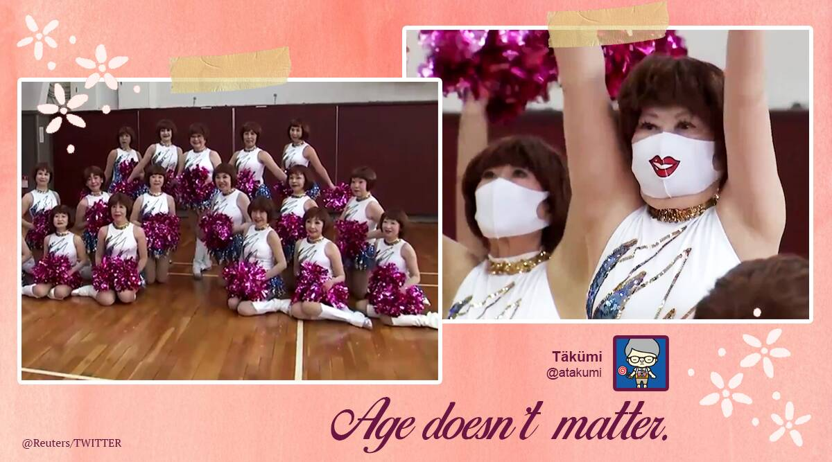 Japan's grey-haired cheer squad proves that age is just a number: 'Try everything'