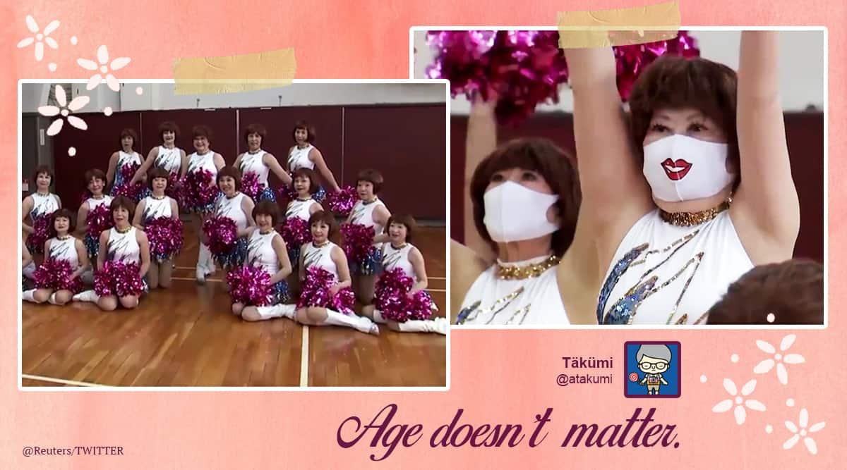 japan, japan dance group, japan dance group viral video, Japan Pom Pom, twitter reactions, trending, indian express, indian express news