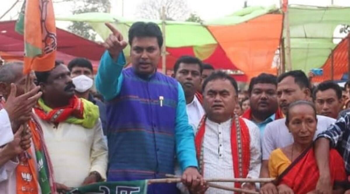 Tripura news, Tripura BJP MLAs joining TMC, Tripura TMC, BL Santhosh Tripura, Sudip Roy Barman, Biplab Deb, tripura CM, Indian express
