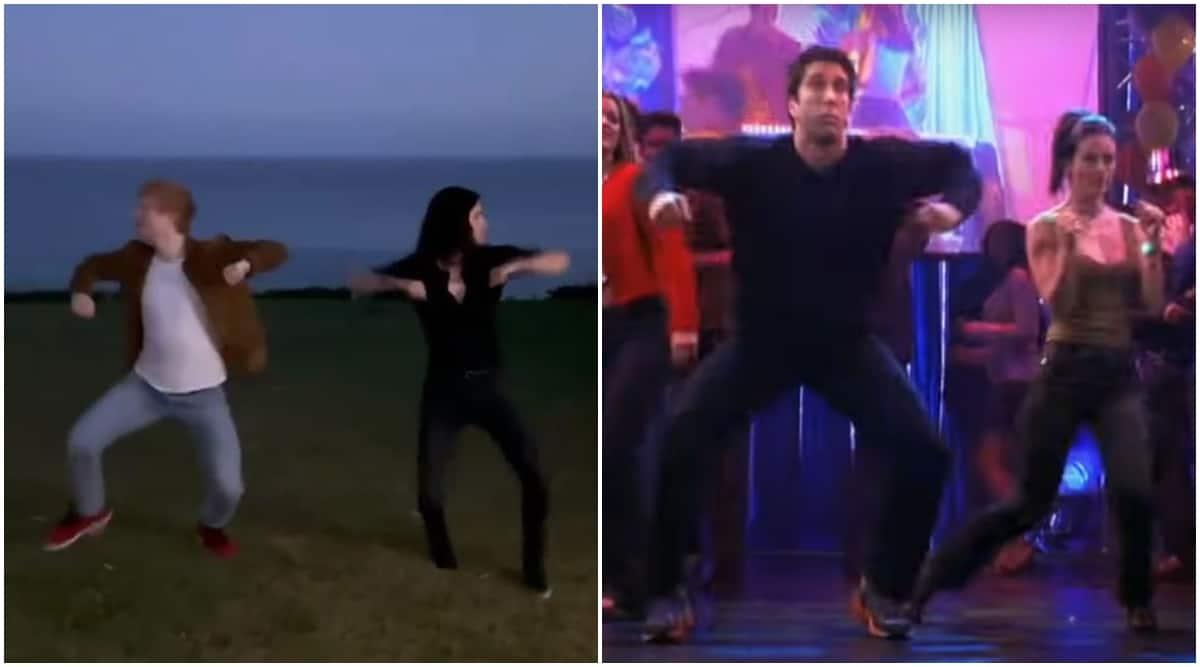 Courteney Cox, ed sheeran, routine dance