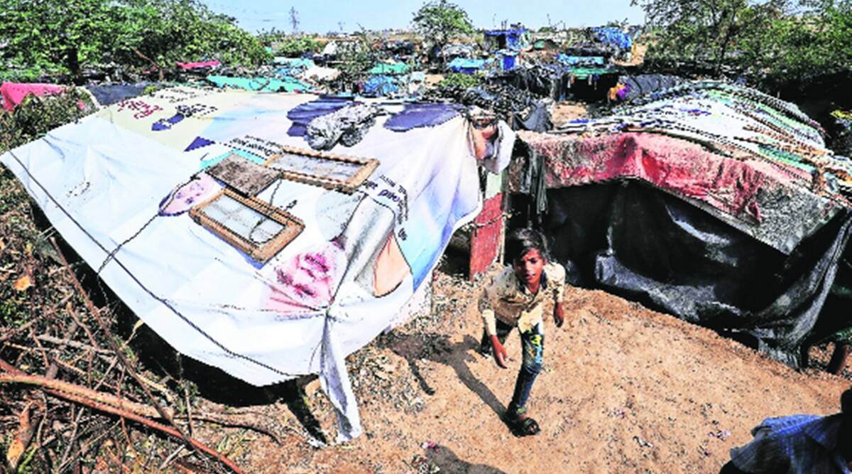 Cyclone Tauktae aftermath: Sewage basti Residents pick up the pieces, cry apathy