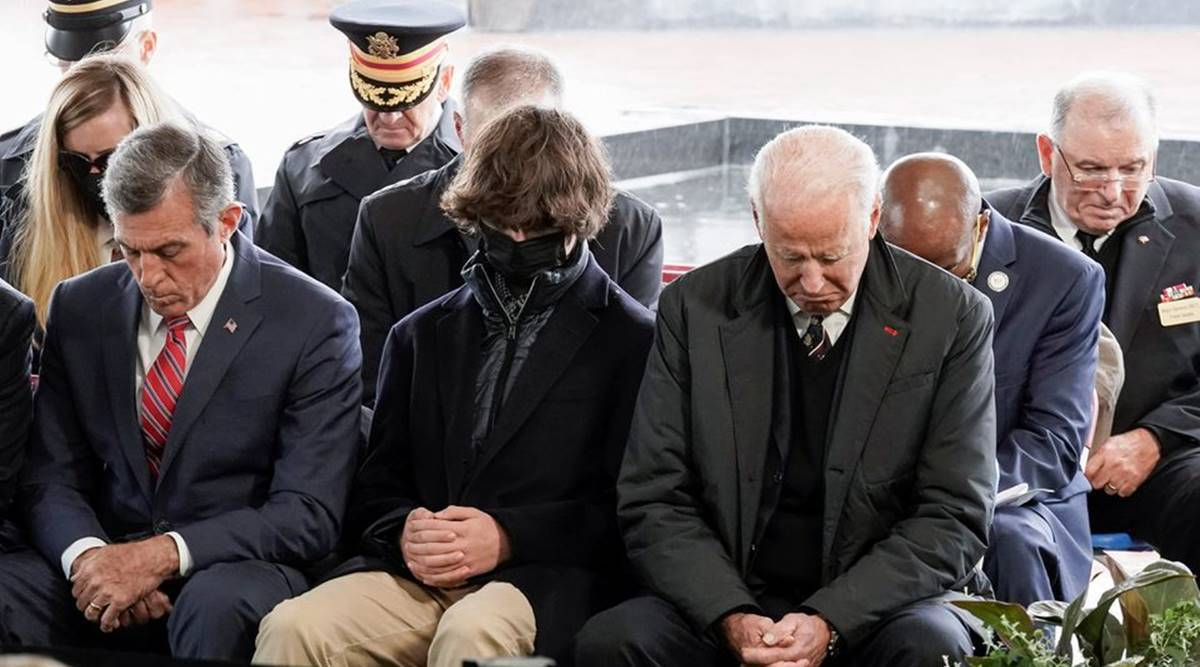 Joe Biden marks son Beau's death with grave visit, remarks to military families