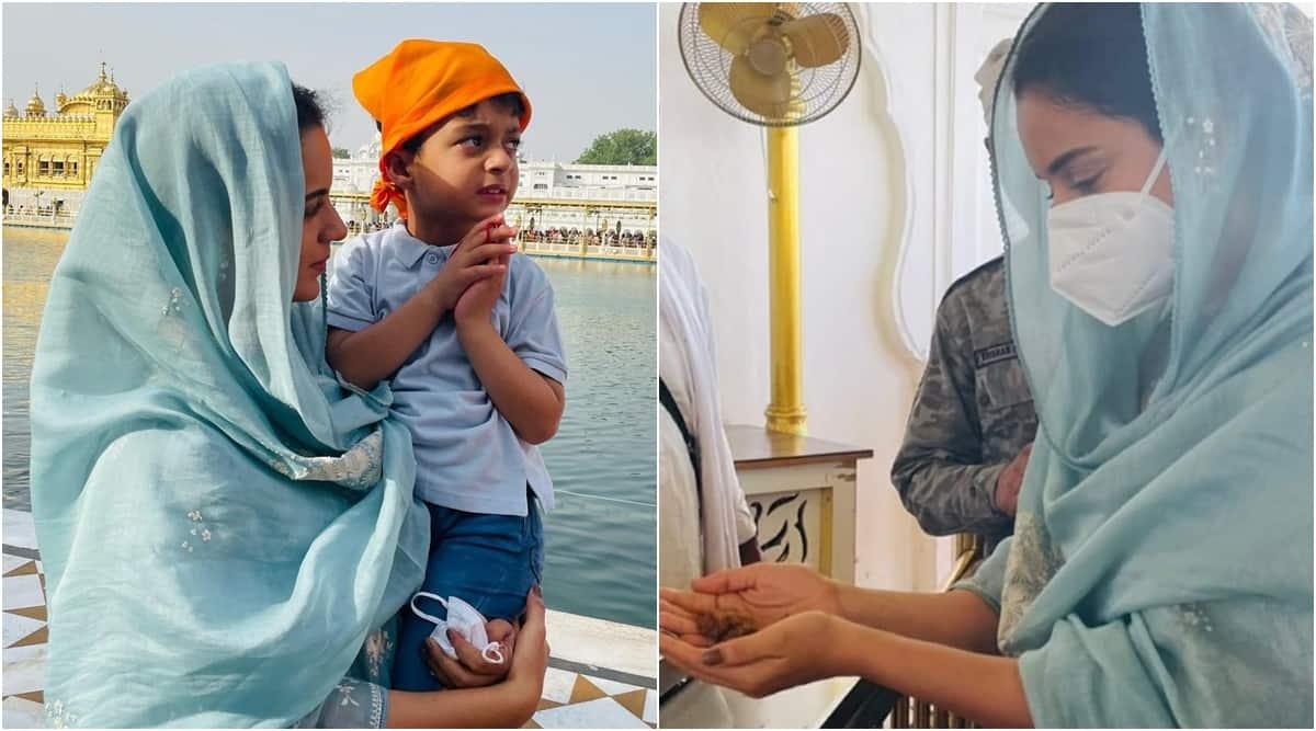 kangana ranaut visits golden temple amritsar