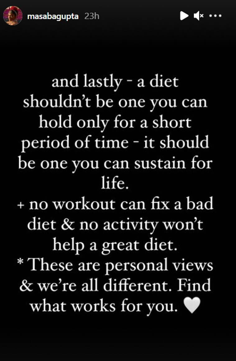 masaba gupta diet