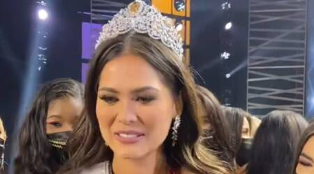 andrea mexa, miss mexico, miss mexico, who won miss universe 2020, why a gap after 2019, indianexpress.com, miss universe news, miss universe pics, andrea mexa pics,