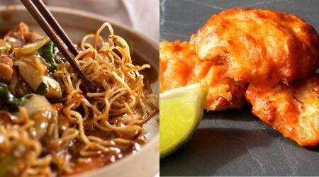 easy starter recipes, pan fried noodles at home, amritsari fish recipe at home, easy restaurant style starter recipe