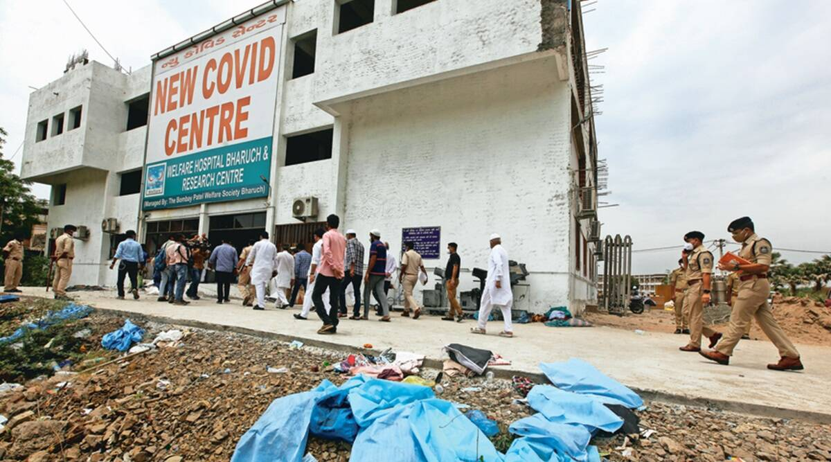 16 patients, 2 nurses die as fire breaks out in ICU of Bharuch Covid facility