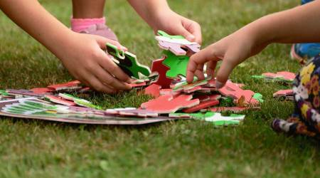 kids, learning, children, learning while playing, interesting ways to help children learn, play-learning, parenting, DIY activities, indian express news
