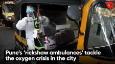 Pune's 'rickshaw ambulances' tackle the oxygen crisis in the city