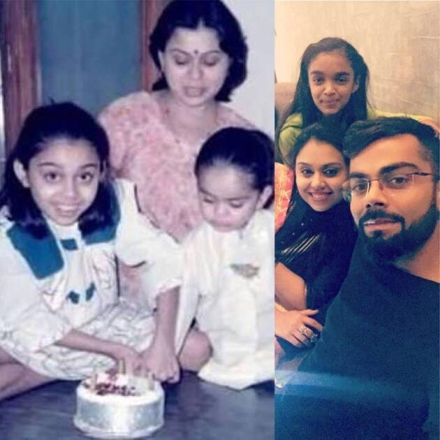 virat sister then and now
