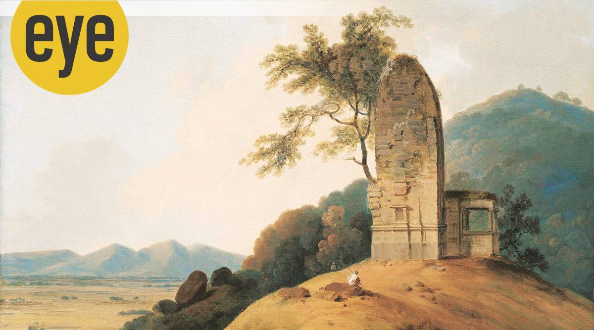 A Ruined Temple painting