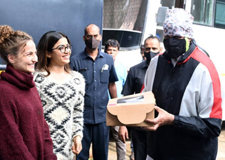 Amitabh Bachchan on Goodbye sets