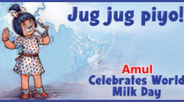 Amul Topical, World milk day, Amul international milk day cartoon, Amul Doodle, World milk day 2021, World milk day theme, World milk day celebrations, Trenidngnews, Indian Express news