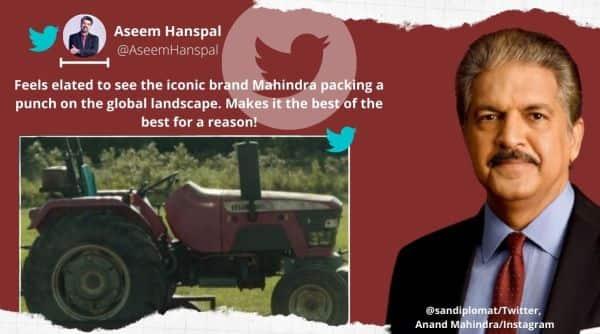 Mahindra tractor, Mahindra tractor in movie, Anand Mahindra, Mahindra tractor in Oscar-winning movie, Anand Mahindra, Mahindra tractor in Korean film Minari, Trending news, Indian Express news